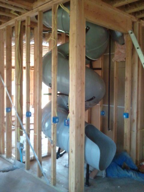 indoor spiral slide, private house slide