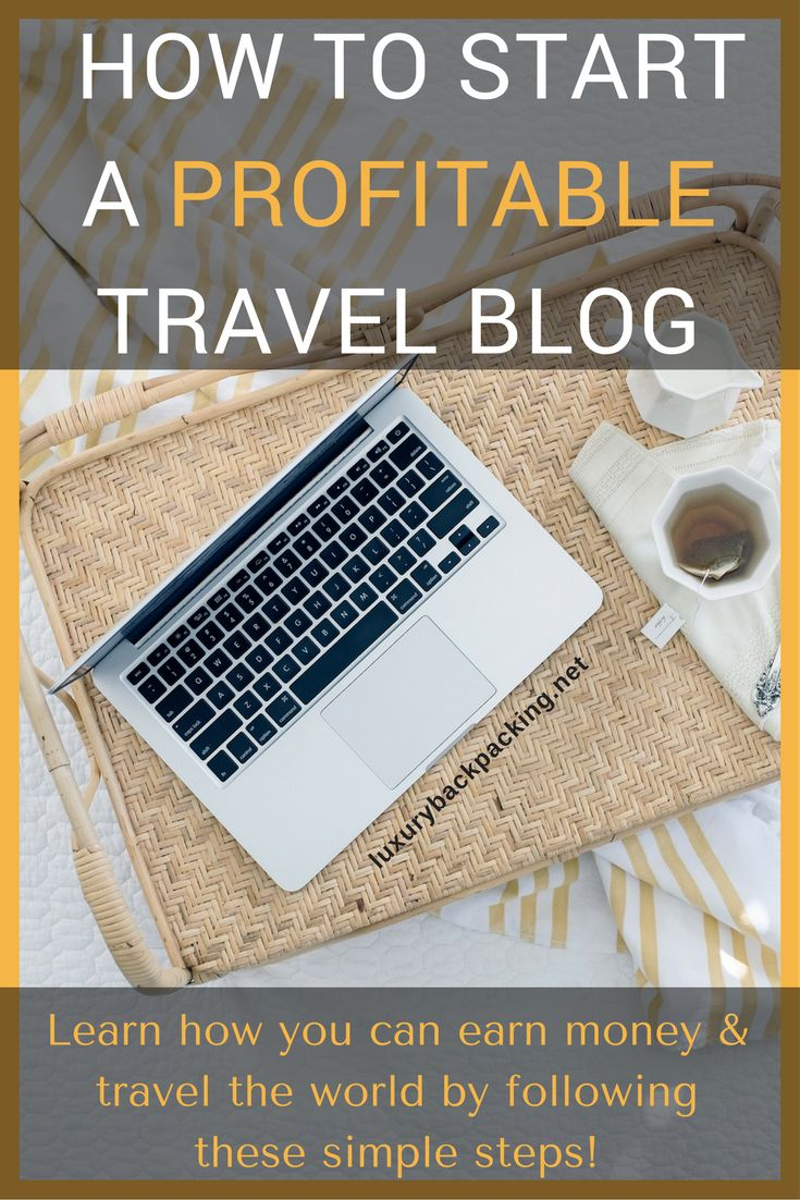 How to start a profitable travel blog, a step-by-step guide. Learn how you can earn money and travel the world by following these steps!