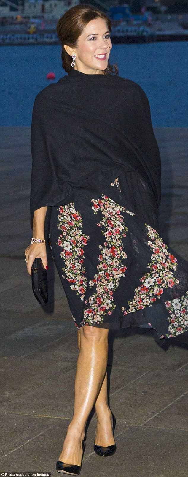 Crown Princess Mary of Denmark wearing Dolce & Gabbana recently at celebrations marking the 400th anniversary of the Danish Army.
