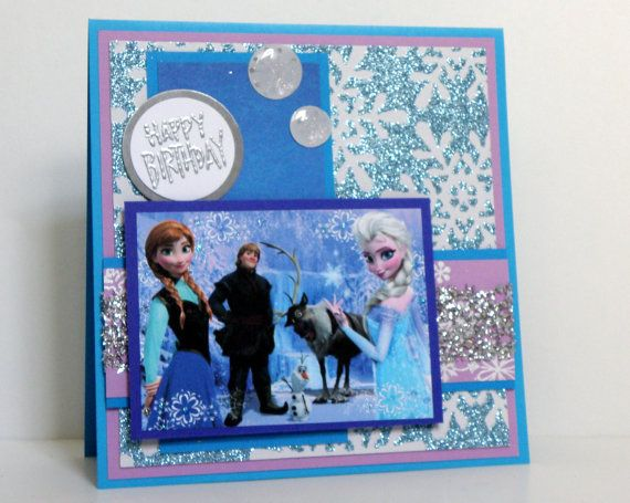 Frozen Birthday Cards  Handmade Kids Birthday Cards  by k8cards, $7.00