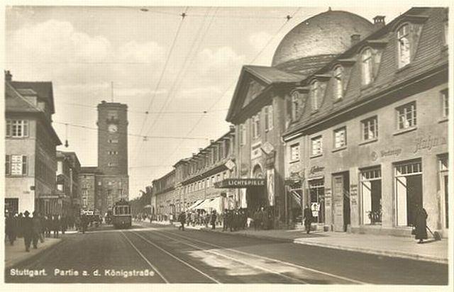 Stuttgart Königstraße 1920er Palast Lichtspiele