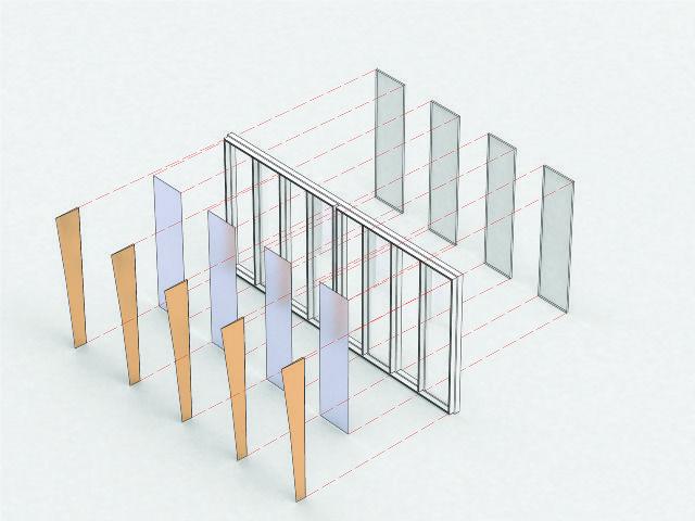 Exploded Facade Diagram Architecture Peresentaion