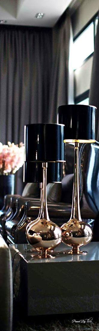 Interior Design.  Home Decor - black \ grey