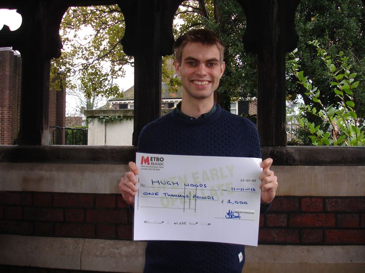 Hugh - Autumn 2016 Prize Draw Winner