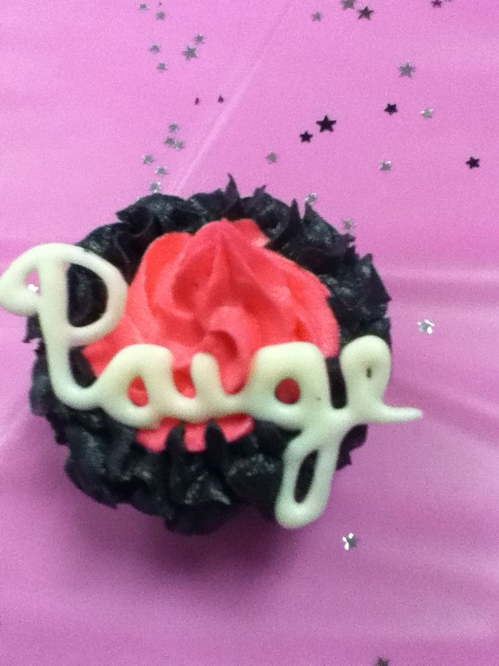 Cheer cupcake made for Cheerleading banquet