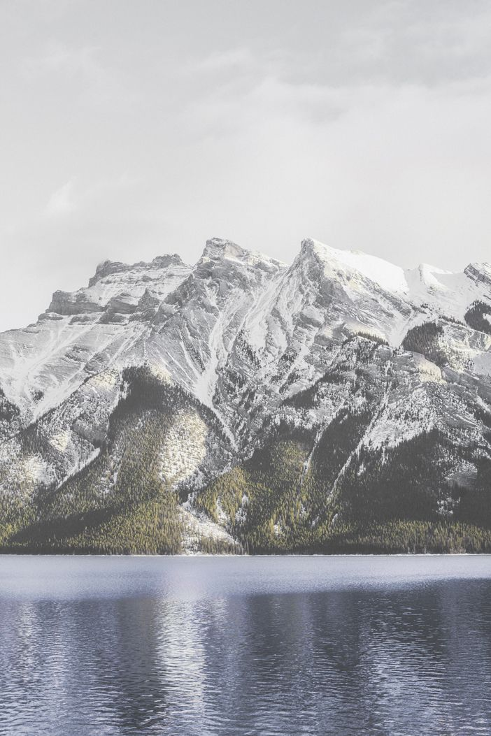 Lake Minnewanka.  Photo by Luke Gram (Man & Camera via Tumblr).