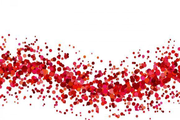 Red Confetti Background Graphic By Davidzydd Creative Fabrica