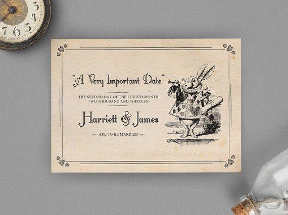 Alice in Wonderland Printable DIY Wedding Invitation £11.94