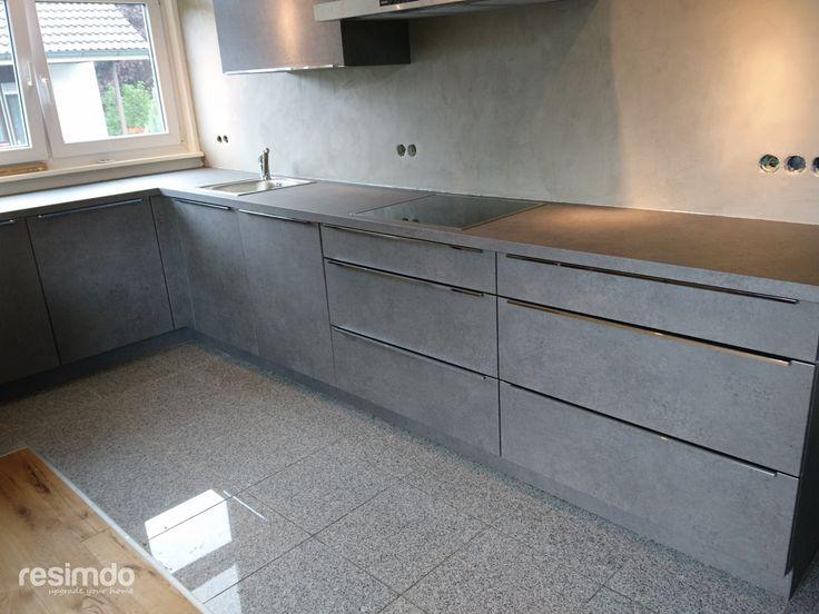 Industrie Design Küche in 2020 Küche betonoptik, Küche