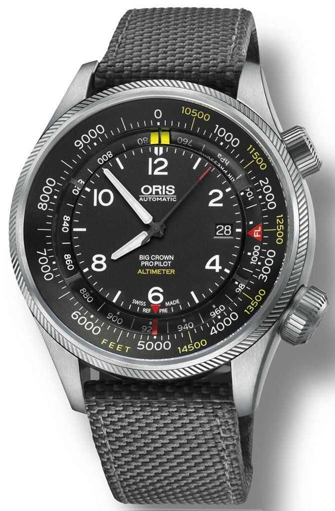 @oris Watch Big Crown ProPilot Altimeter Feet Textile Grey #bezel-fixed #bracelet-strap-synthetic #brand-oris #case-material-steel #case-width-47mm #date-yes #delivery-timescale-call-us #dial-colour-black #gender-mens #luxury #movement-automatic #official-stockist-for-oris-watches #packaging-oris-watch-packaging #style-sports #subcat-big-crown #subcat-big-crown-propilot #supplier-model-no-01-733-7705-4134-07-5-23-17fc #warranty-oris-official-2-year-guarantee #water-resistant-100m