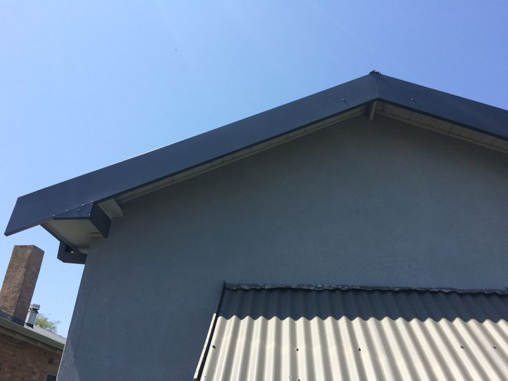 Fascia repair, close up view of gable. Custom flashing fabricated & installed by Kieren Lee Plumbing & Construction 0428690696