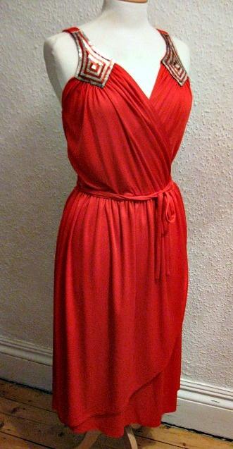 Disco era red wrap dress | Boogie Nights | Pinterest ...