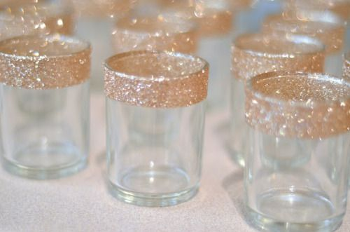 Glitter for votive candle holder centerpieces  and/or candy buffet at Bat Mitzvah