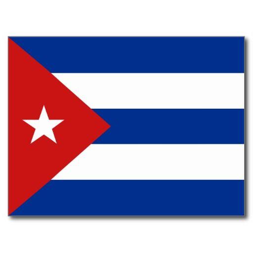 Postal de la bandera de Cuba. #tarjeta #postal #postcard