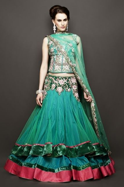 Indian-Traditional-Bridal-Lehnga-with-Embroidery.jpg 427×640 pixels