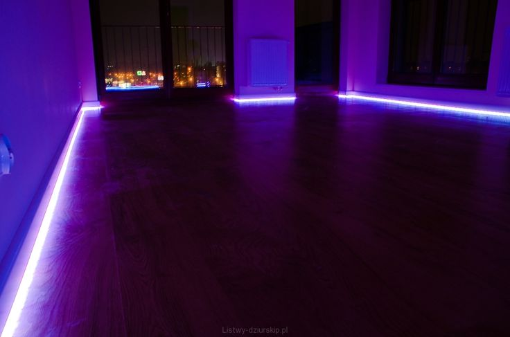 Listwy podłogowe z oświtleniem LED/ Skirting boards with LED.