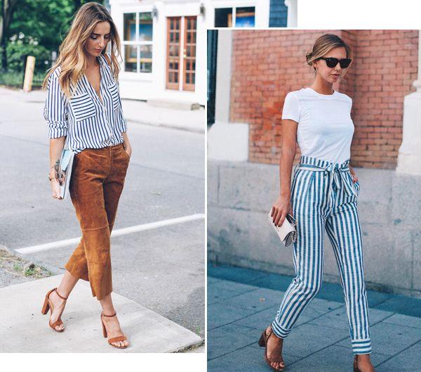 Street style look com listras