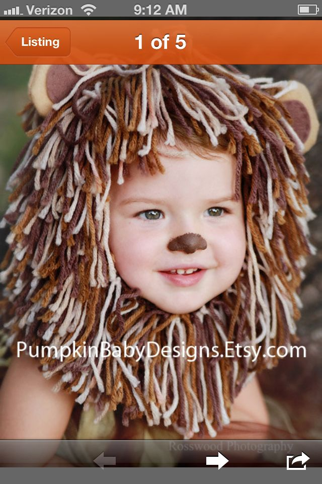 Headband for Autumn's costume. Get a brown onesie and make a tutu - Cowardly Lion