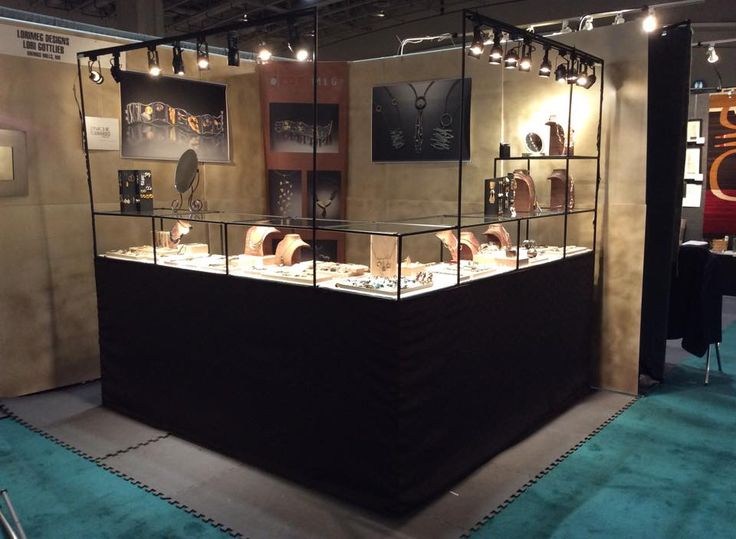 Abstracta jewelry booth display. Matte Black Finish. #jewelrybooth