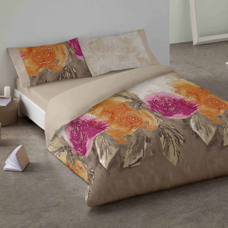 Duvet cover. Roses. Bedroom. Bed. Decor. Pink. Style.
