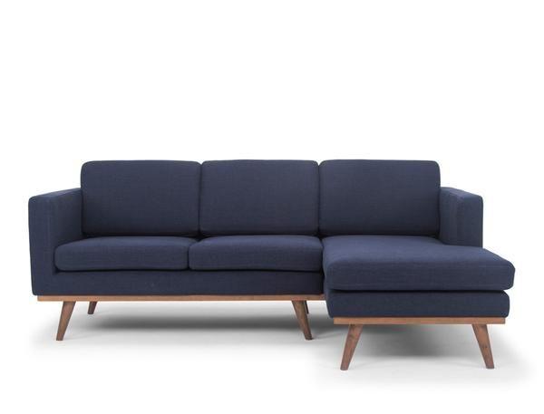 Brooklyn L Shape Sofa Rhf Navy Blue L Shaped Sofa L Shaped Sofa Designs Living Room Sofa Design