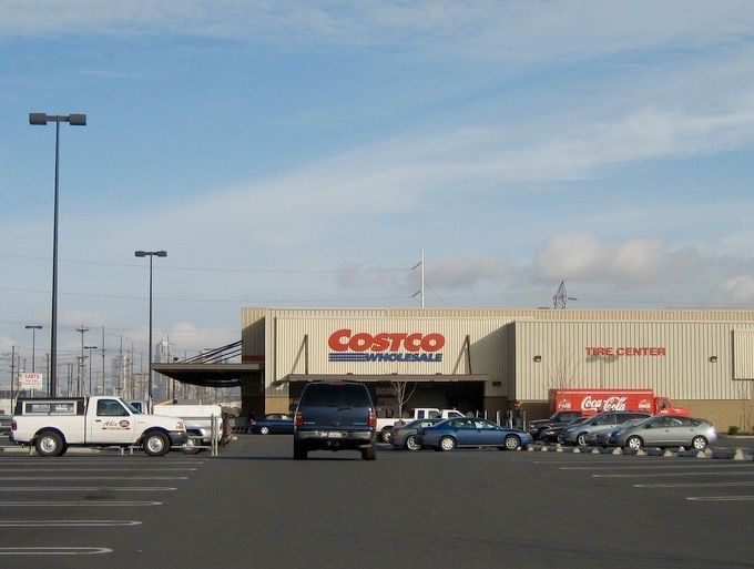 WORLDS 1ST COSTCO STORE (Warehouse #1) opened at 4401 4th Ave S, in this industrial zone of Seattle. Or see corp hq store, at 1801 10th Ave NW, Issaquah.