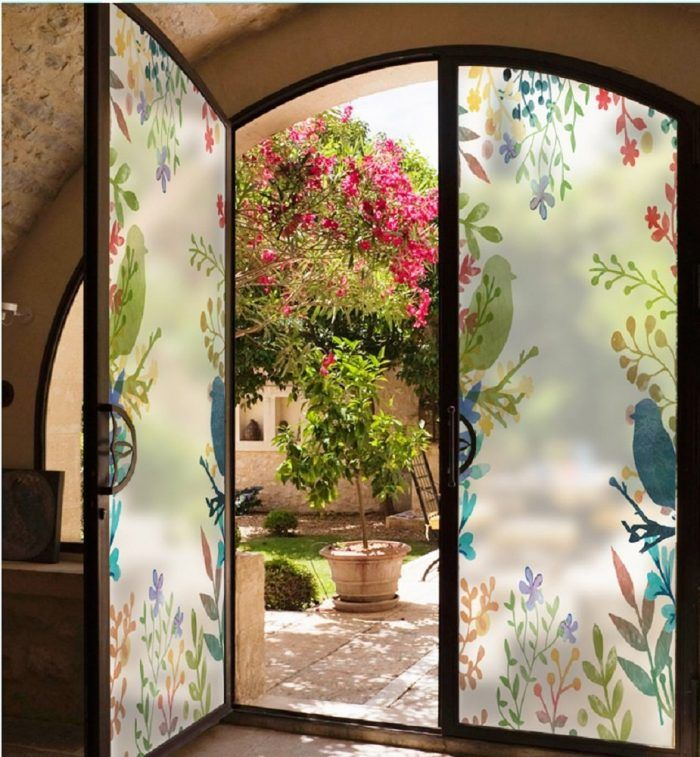 22 Most Beautiful Window Tinting Stickers From Amazon Home Designing In 2020 Window Film Designs Window Film Countryside Style