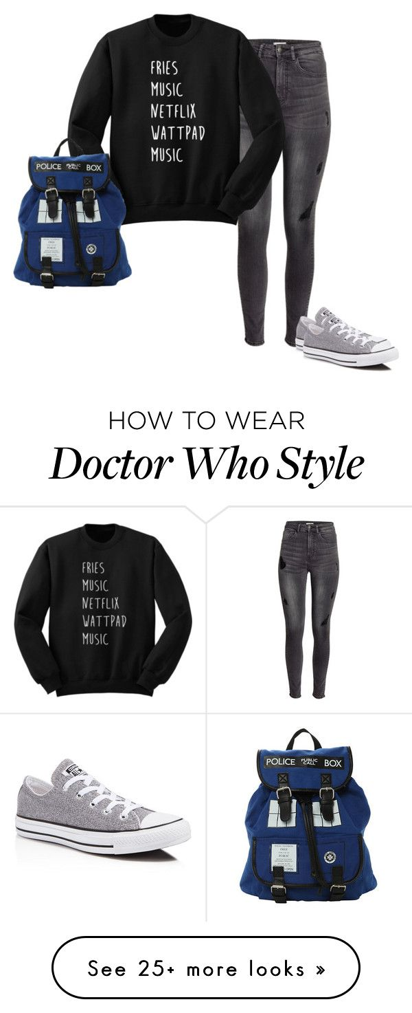 """Casual"" by blackveilbridesbvbsixx on Polyvore featuring H&M and Converse"