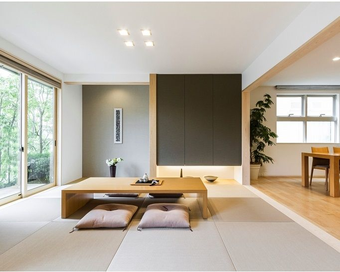 Japanese-inspired interior.