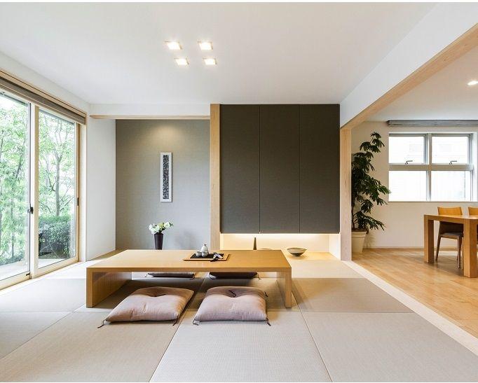 Japanese-inspired interior.