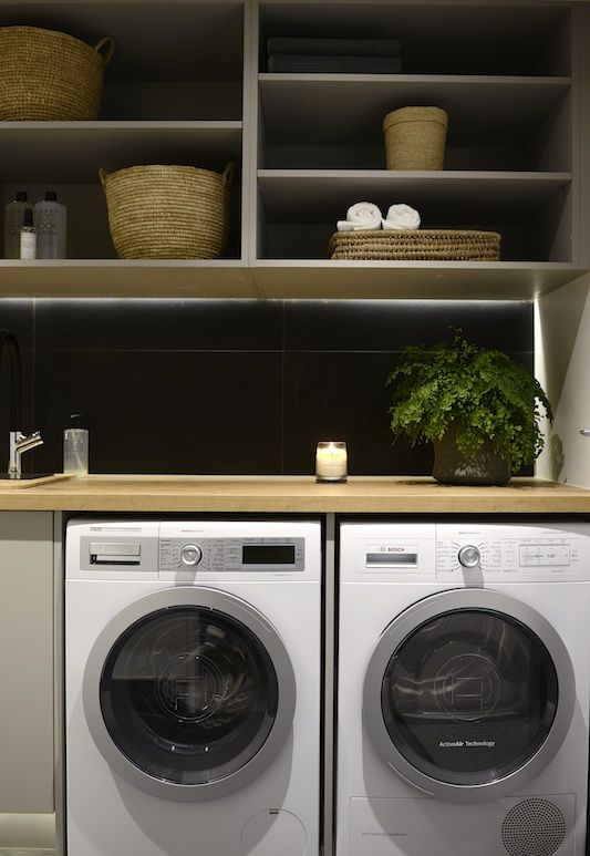 Darren and Deanne   Room Reveal 4   Laundry and Powder RoomThe Block Shop…