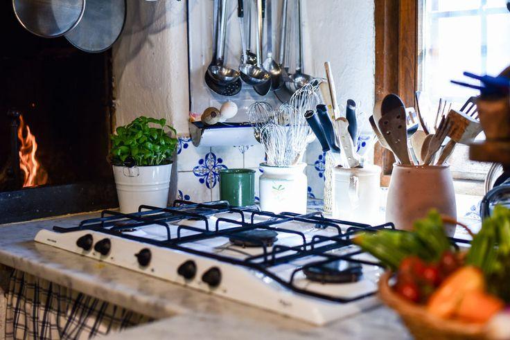 The kitchen at Fagiolari B&B