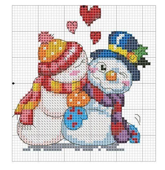 1334 best Grilles de points de croix pour Noel images on Pinterest | Christmas cross stitches ...