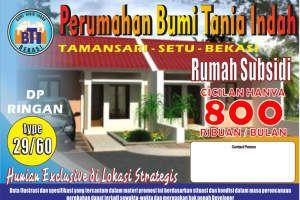 2 kamar tidur rumah dijual di Taman Sari, Bekasi, Taman Sari, RP 134,000,000