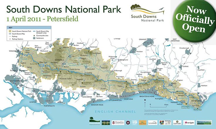South Downs National Park map