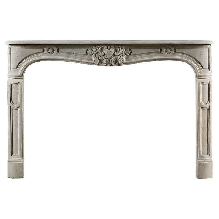 Antique Louis XV Style Limestone Fireplace Mantel | From a unique collection of antique and modern fireplaces and mantels at https://www.1stdibs.com/furniture/building-garden/fireplaces-mantels/