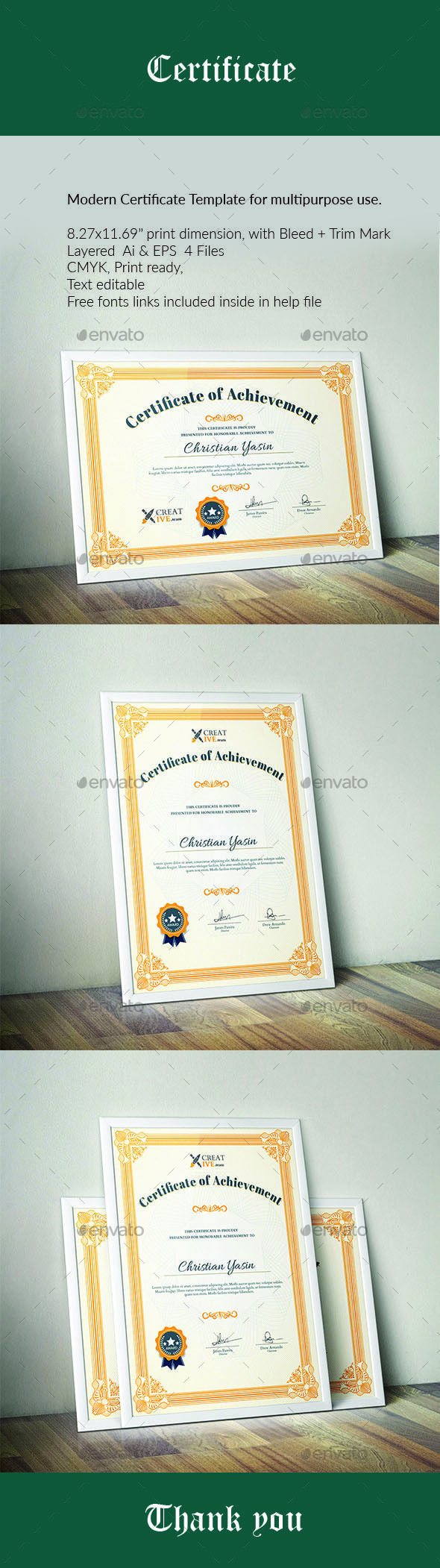 14 best diploma images on pinterest web free frames and free modern certificate template yelopaper Choice Image
