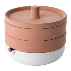 IKEA - ANVÄNDBAR, Sprouter, 2 tiers, You can use one or both tiers of the sprouter to grow your lentils or bean sprouts.The porous red clay keeps the sprouter damp, which helps the sprouts to grow.The glazed bottom tray collects excess water.