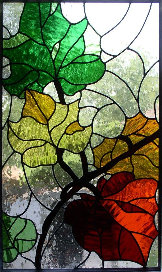 Glass by Olimpia Custom STAINED GLASS PANEL by GlassByOlimpia, $650.00