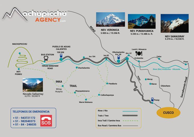 Mapa de Machupicchu Cusco Peru