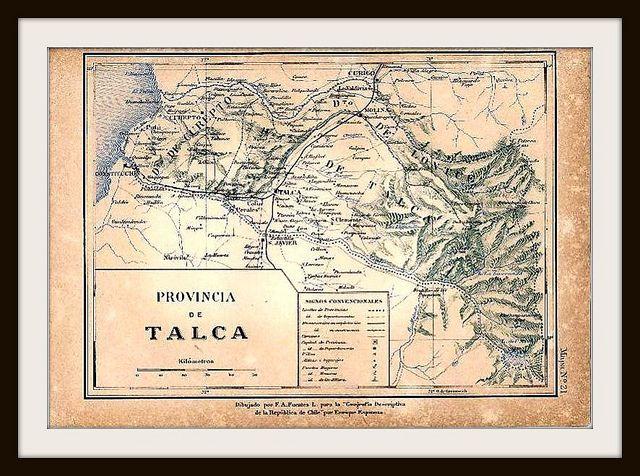 Mapa de la antigua Provincia de Talca | Flickr - Photo Sharing!