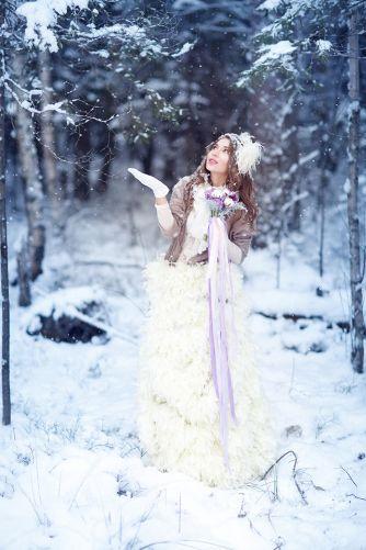 Winter bride style.  Снежная нежность свадьба Ники и Вити