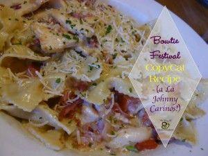 Bowtie Festival Copycat Recipe | The Busy B Homemaker | #prepbloggers #pasta #recipe