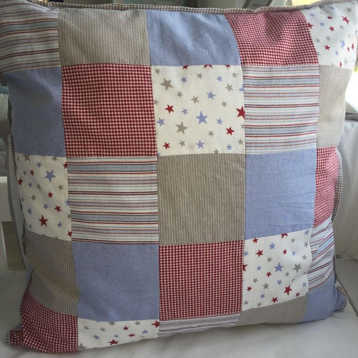 Blue, red and stone linen for baby cots and kids beds