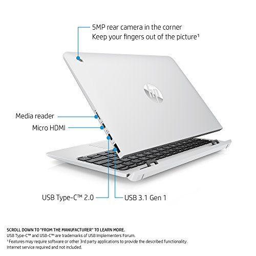 Hp X2 10 Inch Detachable Laptop With Stylus Pen Intel Atom X5 Z8350 4gb Ram 128gb Emmc Windows 10 10 P012nr Whit Touch Screen Laptop Tablet Laptop Laptop