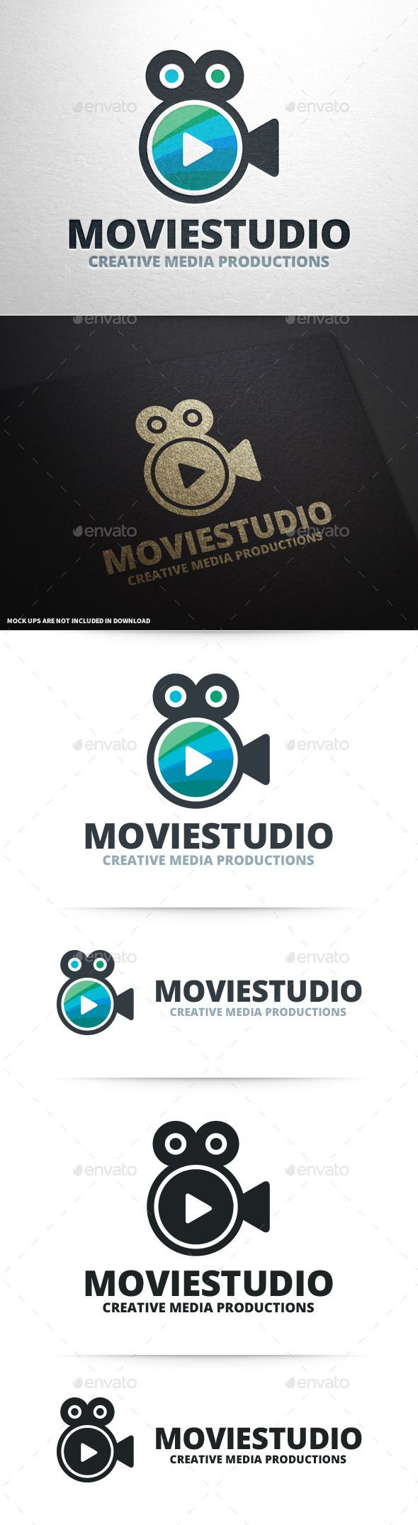 Movie Studio Logo Template #tv #channel #youtube #movie #editor #camera #play #tutorial #film #logodesign #vector #eps #psd #ai #template #envato #graphicriver #buy #sale