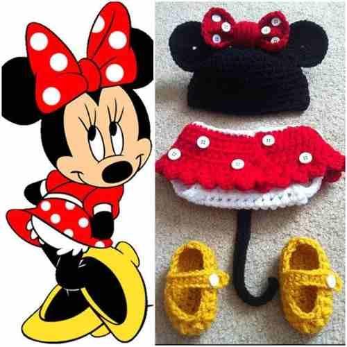 Padrísimo Traje Disfraz Mickey Mouse Conjunto Tejido Crochet ...
