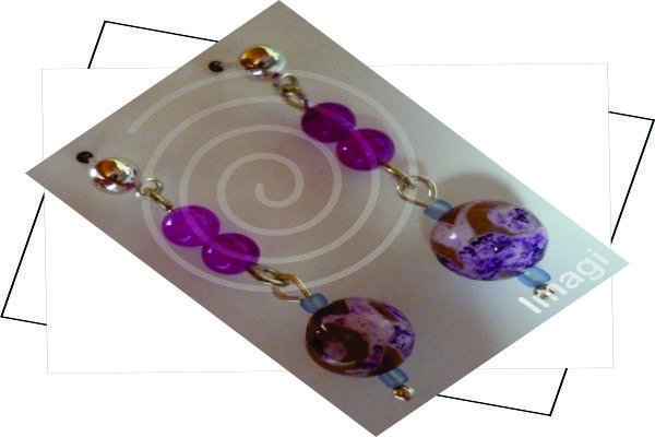 TPM0000030 Fantasía elaborados en polímeros, mostacillas, Ágata