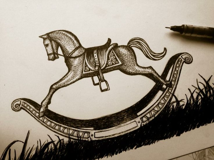 Rocking Horse illustration for Band of Horses gigposter