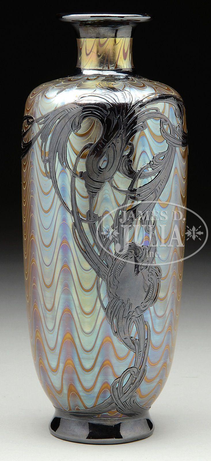 668 best art nouveau vases loetz images on pinterest art nouveau loetz silver overlay vase loetz vase in the phaenomen genre has platinum iridescent wavy bands reviewsmspy
